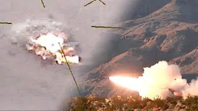 M142 HIMARS Rocket Live-fire Exercise - Strikes Right On Target.