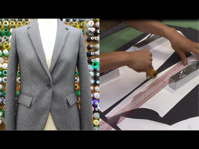 ジャケットの作り方・縫い方 Part1 「裁断」 How to sew a jacket tutorial