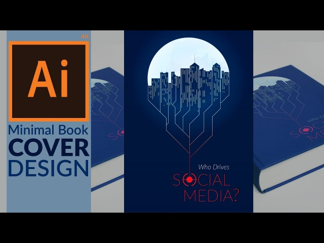 Minimal Book Cover Design in Adobe Illustrator CC