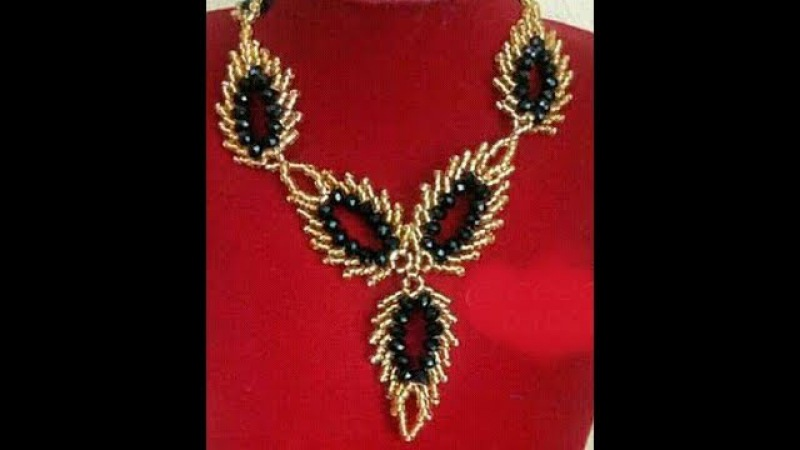 The tutorial on how to make this beautiful leaf beaded necklace