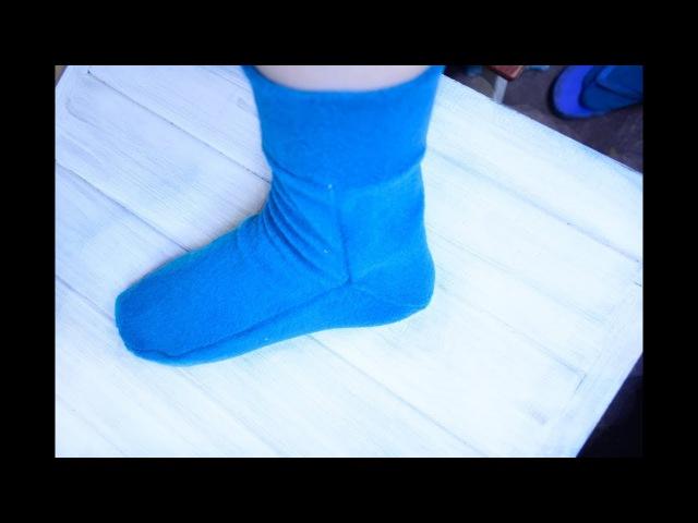 Как сшить носки из флиса выкройка
