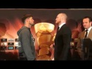 GEORGE GROVES VS. JAMIE COX INTENSE FACE OFF!