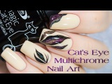 Multichrome Magnetic Gel Nail Art Дизайн с магнитным гель-лаком Кошачий глаз
