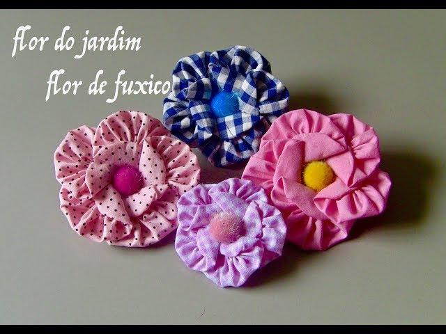 Transfome FUXICOS em lindas flores - DIY- flower fabric