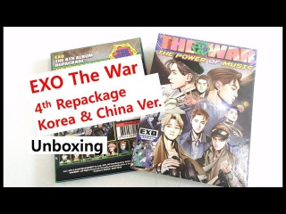 EXO 4th repackage The power of Music The war album unboxing review  엑소 4집 리패키지 앨범 개봉 후기 エクソアルバム