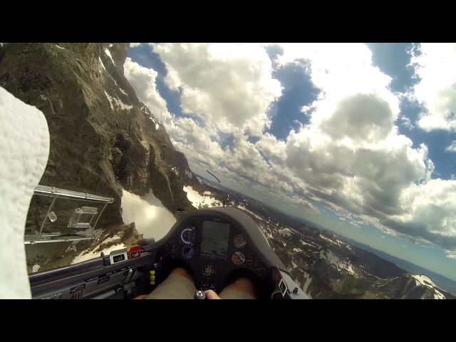 Glider Pilot Gets Desperately Low in Teton Mountains