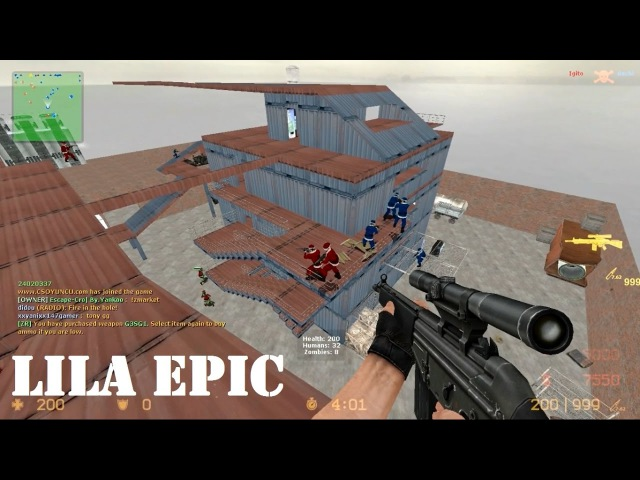 Counter-Strike Source - Lila Epic - zm_lila_epic - XMAS Skins - Zombie Mod