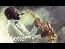 Современный нежный веселый и современный джаз работать с современным джазовым саксофоном