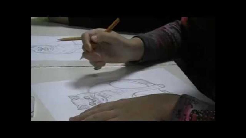 Уроки рисования с Иолантой Штаповой. Креатив Центр Глянец