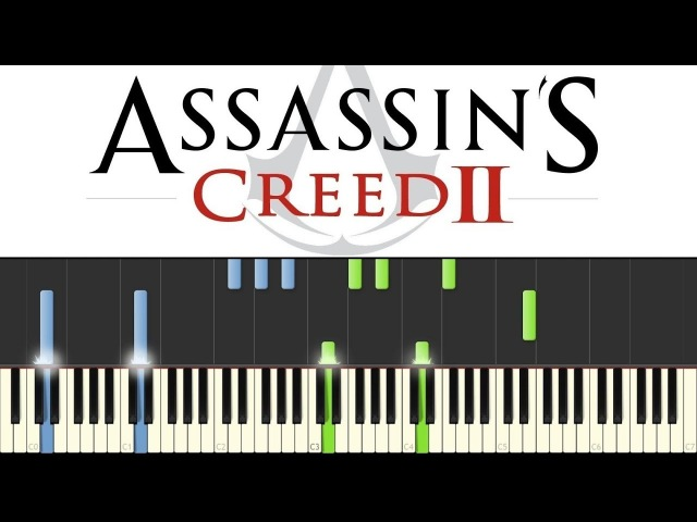 Assassins Creed 2 - Ezios Family (Piano Tutorial - Synthesia) [ sheets]