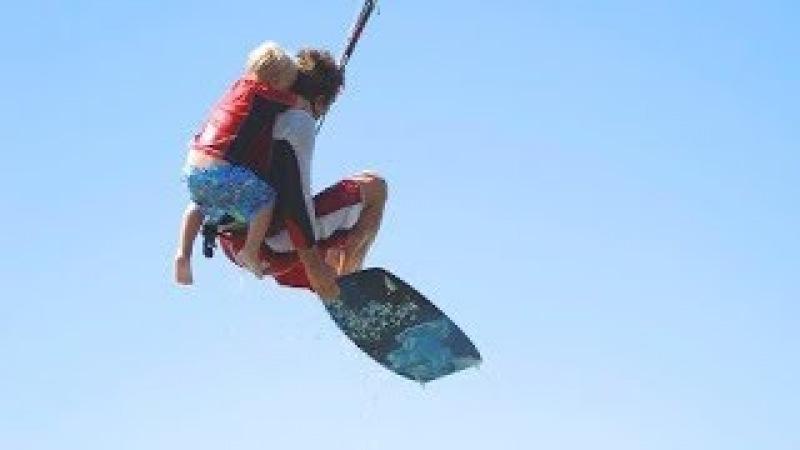 5 yrs old kiter on Greek TV