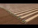 Невероятно красивая работа тракторов на поле (Часть 2)