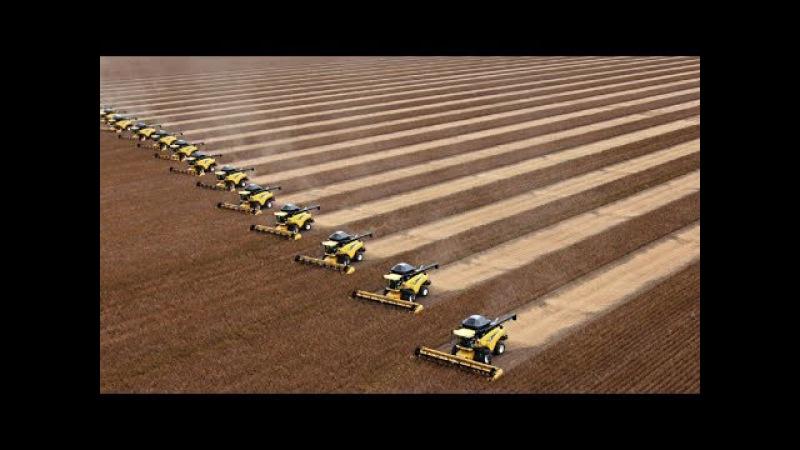 Невероятно красивая работа тракторов на поле Часть 2