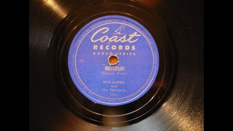 Joaquin Murphey steel guitar -Plainsmen - Coast 78s Ozie Waters Andy Parker