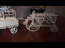 Трактор с прицепом - обучающий и развивающий 3D конструктор