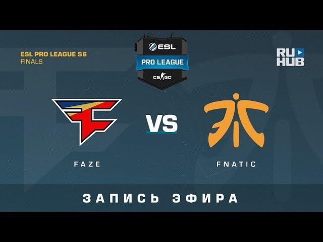 FaZe vs Fnatic - ESL Pro League S6 Finals - map2 - de_overpass [CrystalMay, ceh9]