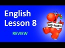 English Lesson 8 - Review. Animals' Names Flashcards, Family Vocabulary
