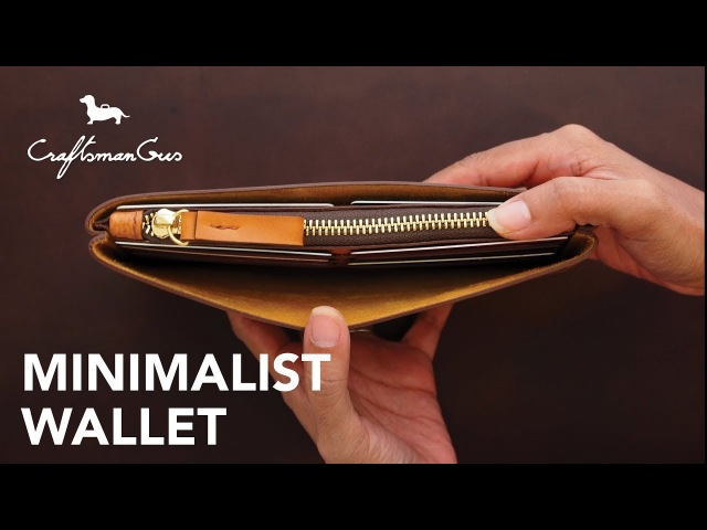 Making Leather Wallet Minimalist Wallet LeatherAddict EP27