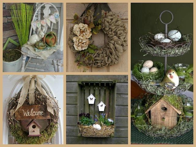 Rustic Spring Decor Ideas - Spring Decorating Ideas - Easter Rustic Decorations Inspo