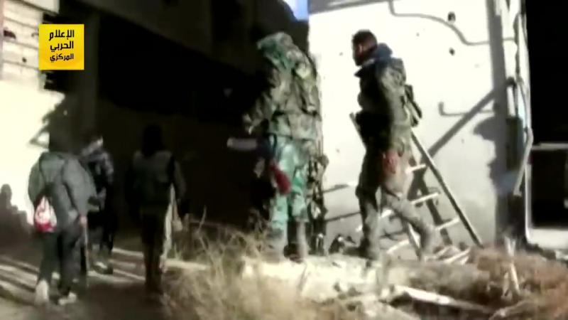 Сирийская армия закрепила свои позиции в окрестностях Управления бронетехники в Харасте в пригороде Дамаска