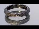 """Кольцо """"Женское счастье"""".  Обручальное. Голубые алмазы. ПРОДАНО! Черненое серебро."""