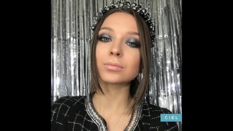 Видеоурок вечернего макияжа серебристый smoky eyes