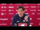 Montella: Es una final, como será la del sábado próximo ante el Villarreal. 06/04/18. Sevilla FC