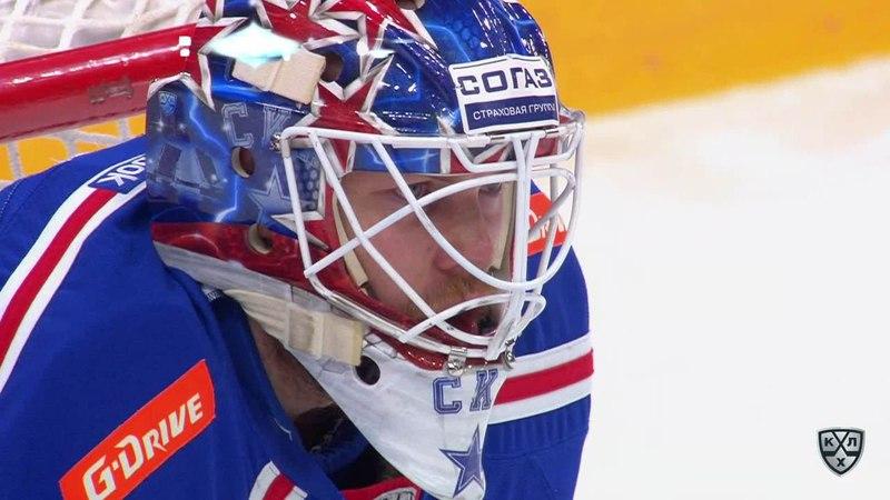 Моменты из матчей КХЛ сезона 17/18 • Гол. 1:2. Аверин Егор (Локомотив) от синей прошил вратаря 23.03