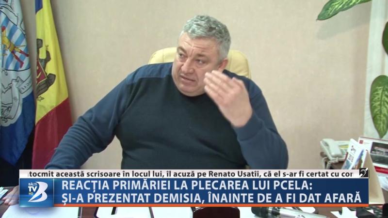Reacția primăriei la plecarea lui Pcela: și-a prezentat demisia, înainte de a fi dat afară