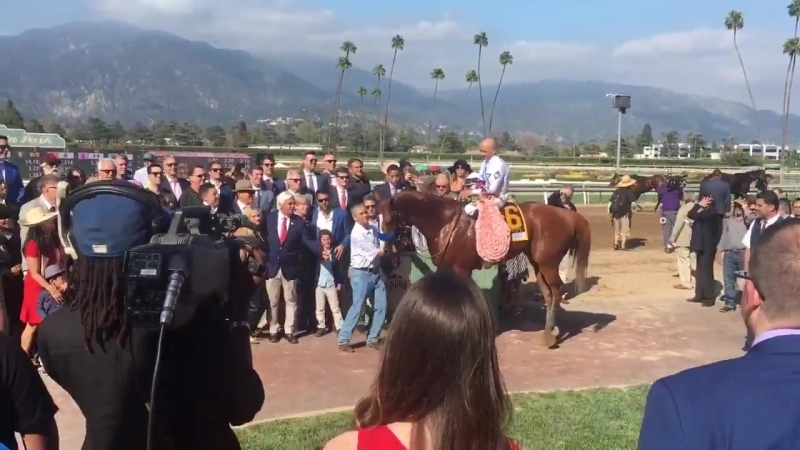 Santa Anita Derby - Photo time with winner Justify! - KentuckyDerby
