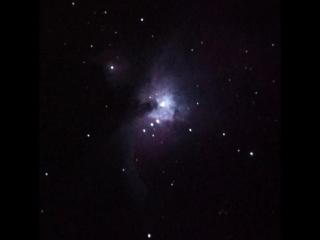 Большая туманность Ориона (М42) живой вид в телескоп