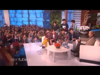 Rus sub BTS Ellen Show Get Scared by a fan girl