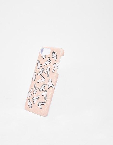 Чехол с изображением лап Микки-Мауса для iPhone 6Plus/7Plus