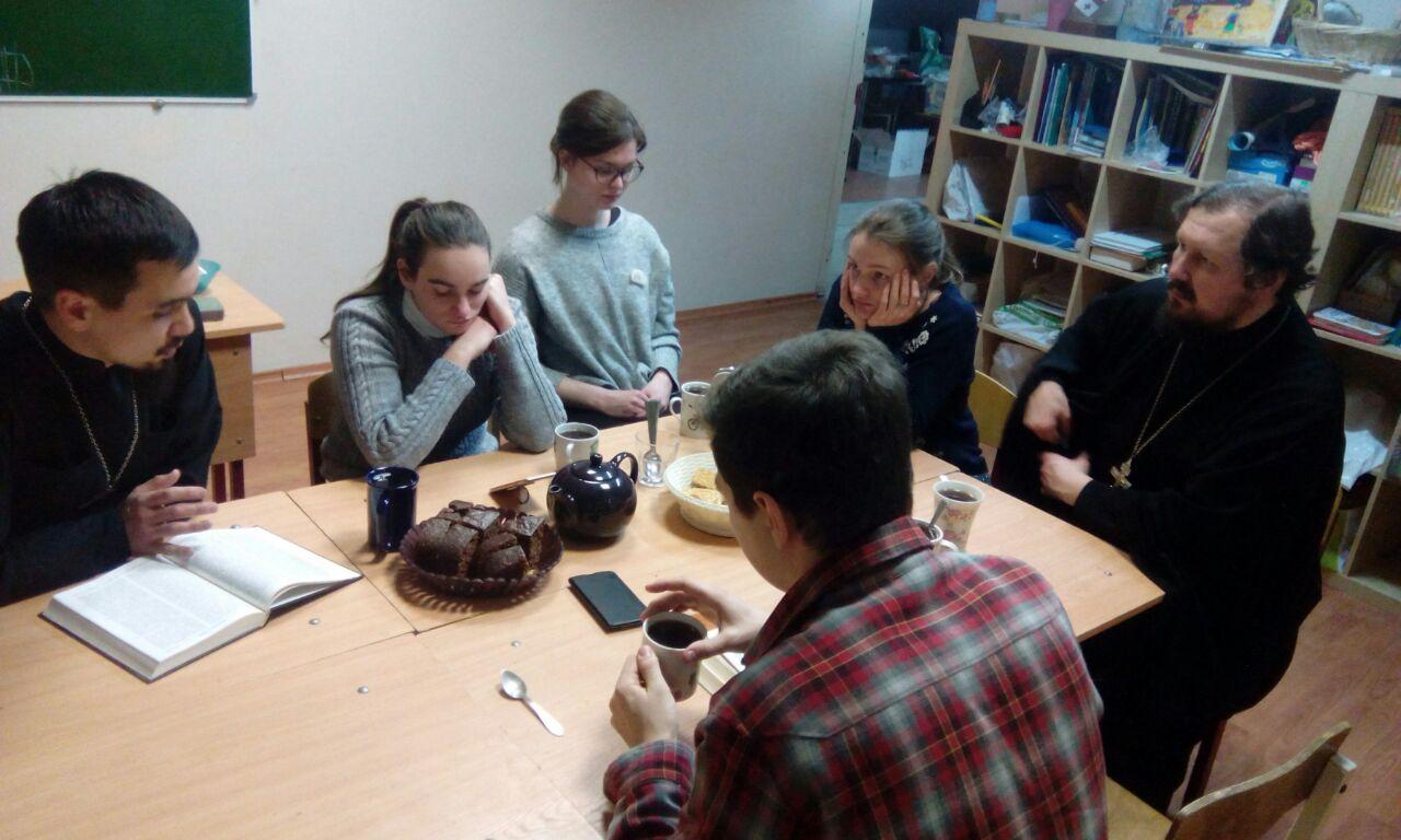 Очередная встреча молодежного клуба при храме святых Космы и Дамиана