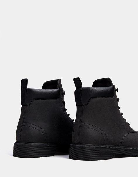 Мужские ботинки со шнуровкой и подкладкой