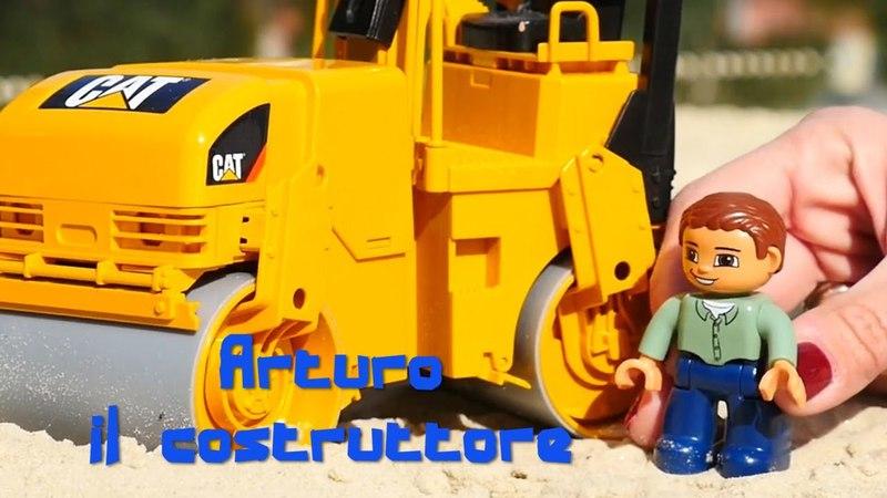 Arturo il costruttore: Asfaltatrice sulla sabbia- Costruzioni