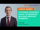 Артем Чекотков Уголовно правовые риски проведение доследственной проверки