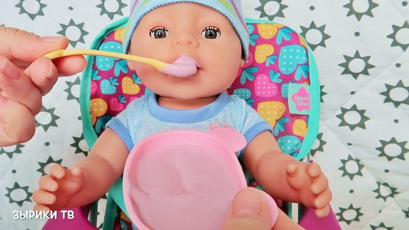 Куклы Пупсики Беби Бон купаются, кушают на канале Зырики ТВ. Играем вместе в игрушки для девочек