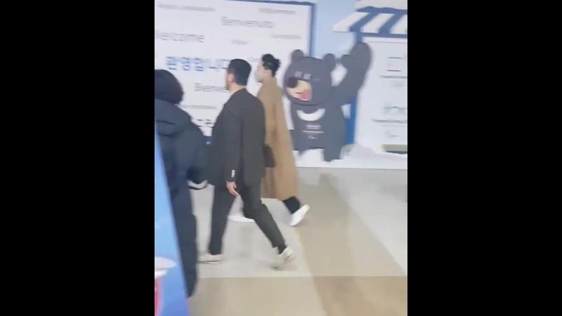 23.02.2018 аэропорт Гимпо, Корея. Возвращение из Токио с ФМ