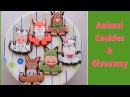 Animal cookies. One cookie cutter for all characters. Giveaway!