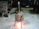 Простая эконом печь в гараже длительного горения своими руками
