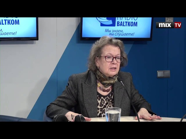 Жена ученого Александра Зиновьева в программе Разворот. MIX TV