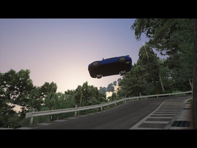 Irohazaka jump but i seriously miscalculated