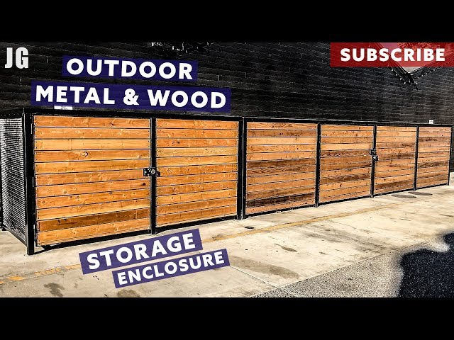 Metal and Wood Outdoor Storage Enclosure | JIMBO'S GARAGE