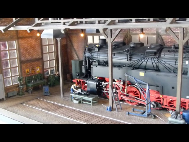 SPUR1 lokschuppen локомотивное депо масштаб 1:32
