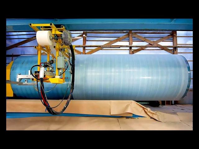 Процесс изготовления стеклопластиковых емкостей Армопласт