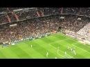 Santiago bernabeu Real Madrid v malaga, Cristiano Ronaldo goal after penalty miss. Atmosphere!!