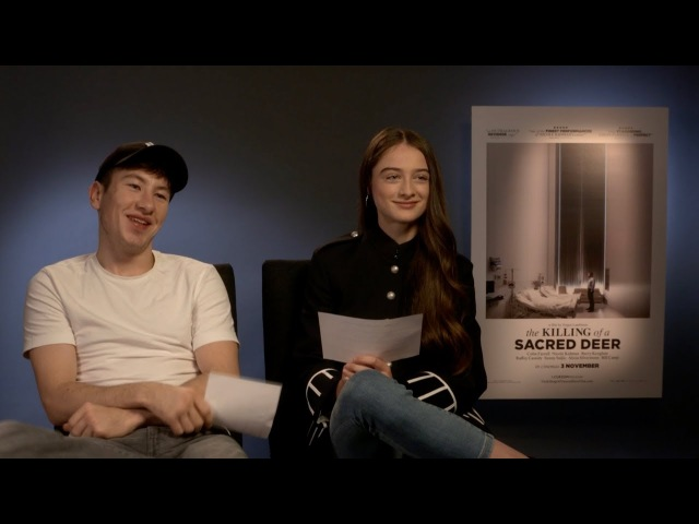 The Killing of a Sacred Deer - Barry Keoghan and Raffey Cassidy interview each other