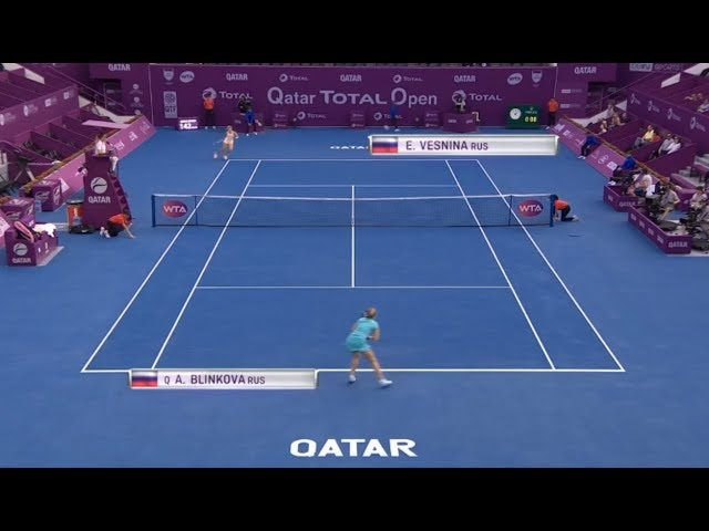 Elena Vesnina vs Anna Blinkova Full Match HD - 2018 Qatar Total Open (Doha) | Tennis