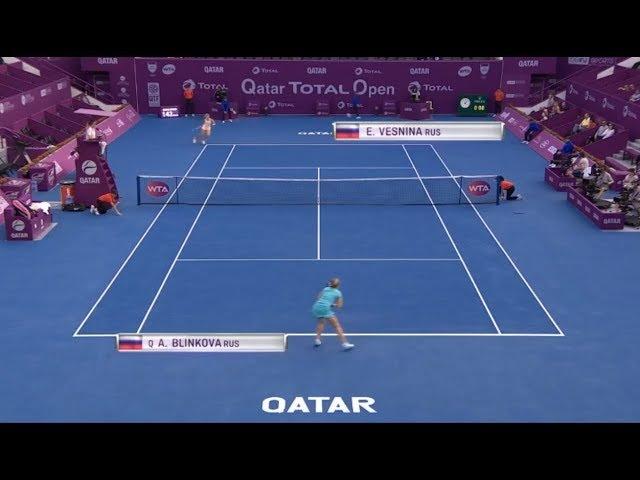 Elena Vesnina vs Anna Blinkova Full Match HD 2018 Qatar Total Open Doha Tennis
